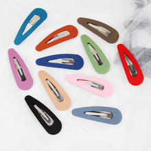 1 Pieces 7.5 cm Simple Snap Hair Clips Solid Color Women Girls Metal Hair Barrettes BB Hairpins DIY Hair Styling Accessories free shipping 30mm iron snap hair bow clips diy hairpins girl clips bb clips for diy hair accessories 300pcs lot