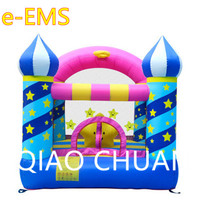 Gypsophila Children Inflatable Castle Toy Trampoline Basketball Hoop Playground Equipment Kindergarten Decoration G1563