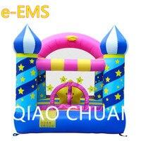 Gypsophila Children Inflatable Castle Toy Trampoline Basketball Hoop Playground Equipment Kindergarten Decoration G1563
