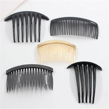 2pcs Teeth Wide Tooth Comb Black ABS Plastic Heat-resistant Large Wide Tooth Comb For Hair Styling Tool janeke golden wide teeth comb with handle page 3