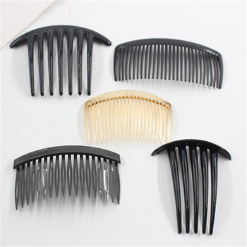 2pcs Teeth Wide Tooth Comb Black ABS Plastic Heat-resistant Large For Hair Styling Tool
