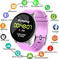 LIGE femmes Bracelet intelligent Sport de santé smartwatch IP67 étanche Fitness Tracker fréquence cardiaque podomètre Bracelet pour Android ios