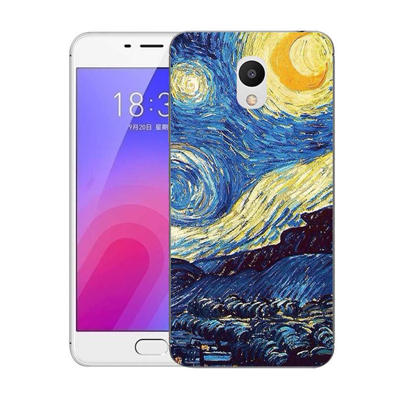Für Meizu M6 Fall 5,2 ''Mode Gedruckt Weiche Silikon TPU Rückseitige Abdeckung für Meizu M6 M 6 Mini M711Q M711C Ausgestattet Telefon Klare Fälle