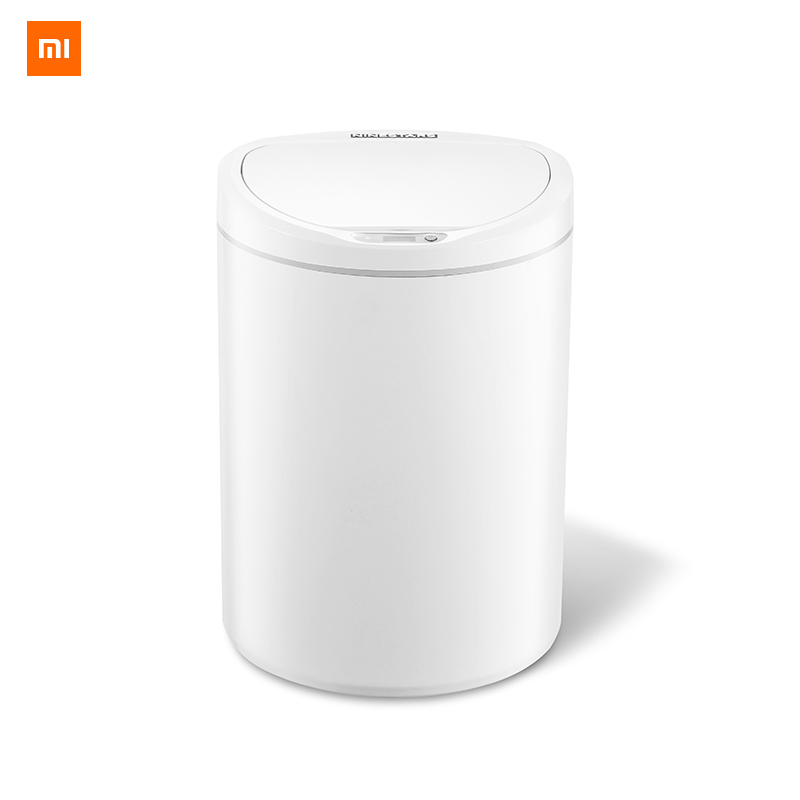 Xiaomi Mijia NINESTARS Intelligent Sensor Trash Can 10L Capacity on key Control Adjustable Sensing Distance Home Trash Bin-in Smart Remote Control from Consumer Electronics