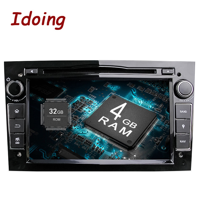 Idoing 2Din Radio Car DVD Multimedia Player Fit Opel Vectra Corsa D Astra H Steering-Wheel Android8.0 Audio touch Screen Video