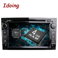 Idoing 2Din Radio Car DVD Multimedia Player Fit Opel Vectra Corsa D Astra H Steering Wheel Android8.0 Audio touch Screen Video