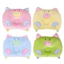 Baby Anti-roll Cushion Almohadas Infant Lovely Cartoon Pig Pillow Correct Prevent Flat Head Soft Sleeping Positioner 22 x 18 cm