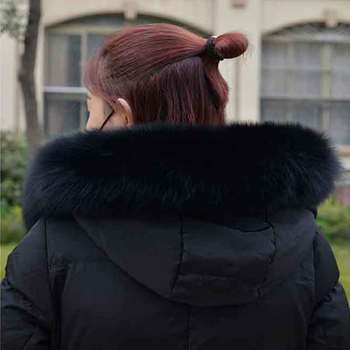 JKPnatural fox scarf ladies fox fur collar fashions down jacket fur collar real fox fur collar men and women coat hat decoration image