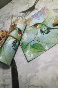 Image 5 - 25 センチメートル 20 紙ナプキンティッシュかわいいハチドリ花ハンカチオイルクラフトデコパージュ少女少年子供パーティー結婚式ナプキンデコ