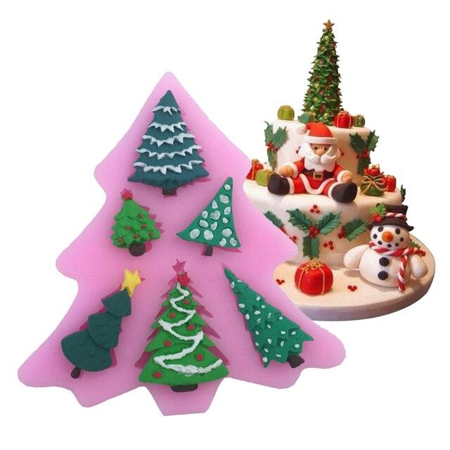 Pop Arbol De Navidad En Forma De Silicona Molde Pastel Decoracion