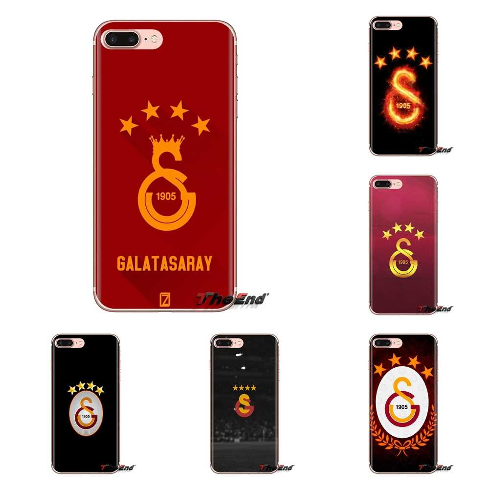 Galatasaray SK โลโก้แผ่นโลหะกรณีซอฟท์โปร่งใสสำหรับ Samsung Galaxy A3 A5 A7 A9 A8 Star A6 Plus 2018 2015 2016 2017