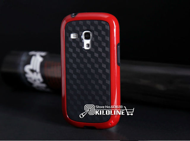 Gift Screen film! Duotone Cube Soft TPU Case Cover For Samaung Galaxy S III S3 mini i8190