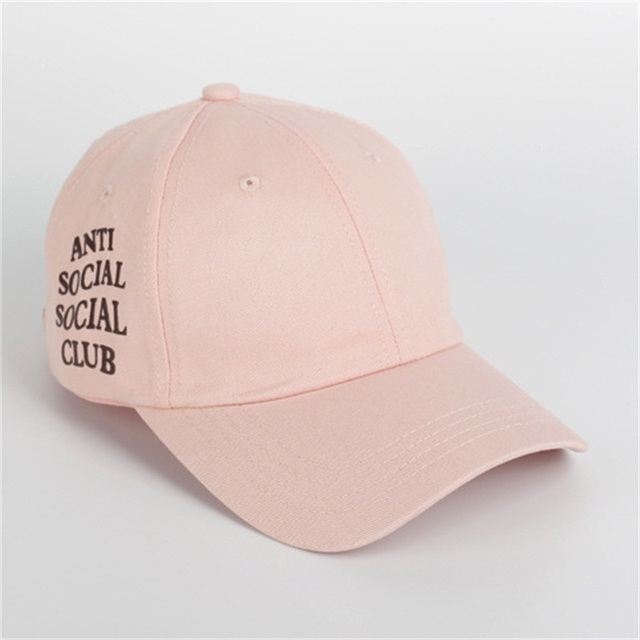 Harajuku ANTI SOCIAL SOCIAl CLUB polo cap Snapback sunhat Embroidered letters Sport Baseball Cap for Women Men HipHop Cap Bone