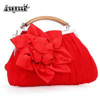 Hot 2015 Evening Bag Flower Bride Bag Purse Party Handbag Wedding Clutch Women Evening Purse Lady