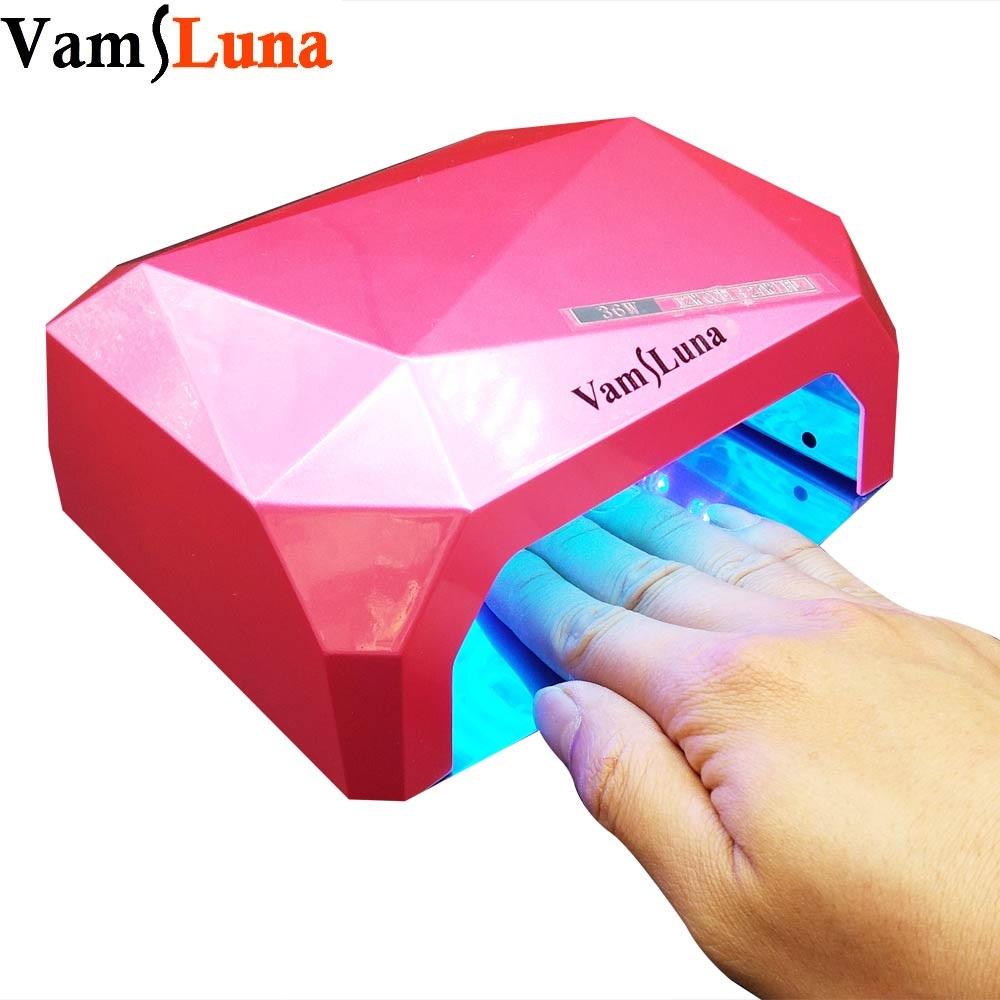 36 W Ultraviolet Lamp + UV licht Nageldroger Diamantvormige Curing Lamp Machine Gel Nagellak EU Plug 220 V of 110 V LED CCFL