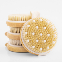 New Dry Skin Body Soft Natural Bristle the SPA Brush Wooden Bath Shower