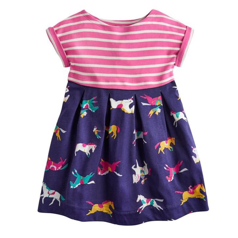 Niñas vestido de verano Floral princesa traje 2018 marca niños ...