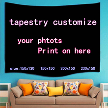2019 Customized Tapestry Fahion Design Picture here Print Pet wedding personal life photos customize gif Wall Hanging Bohemian