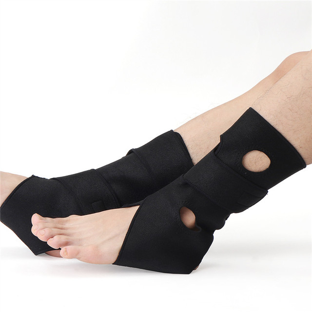 00668b8830 Breathable Neoprene Compression Ankle Support Brace Joint Sprain Bandage  Recovery Right Left Foot Protector Pain Relieve Black