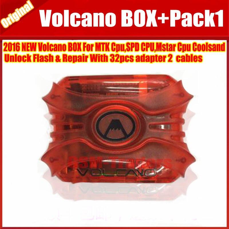 imágenes para El Más Nuevo Original Caja Volcán Para Coolsand liberar y Flashear y Reparación Con 32 unids adaptador 2 cables + PACK $ NUMBER