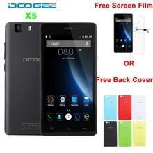 Auf Lager Ursprüngliche Doogee X5 MTK6580 1,3 GHz Quad Core 5,0 Zoll 1280*720 IPS 1 GB RAM 8 GB ROM 5.0MP 2400 mAh 3G WCDMA Handy OTA
