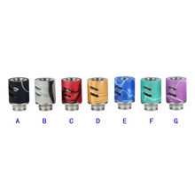 Sailing vape electronic cigarette 510 acrylic drip tips 7 colors adjustable airflow for 510 thread tank atomizer 10pcs wholesale