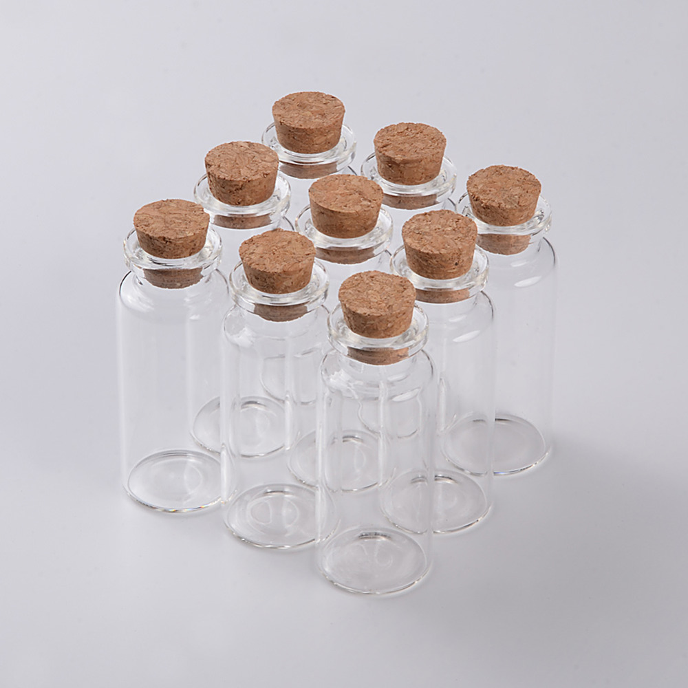 Food Grade Glass Bottle with Cork Stopper Empty Crafts Decoration Bottles Jars Vials2