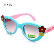 JAXIN Fashion Flowers Kids Sunglasses personalized cute Baby sunglasses Girl cartoon color goggles UV400 favorite oculos