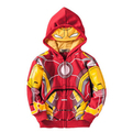Осень Мальчики Терри Мстители Железный Человек Супергероя С Капюшоном Куртки Детские Толстовки детские Пальто Верхняя Одежда Пальто Детская Одежда