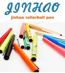 Image 2 - Jinhao rollerball pen luxury 599 six color business metal ballpoint pen tip flat pen clip 0.7mm black refill Can customize LOGO