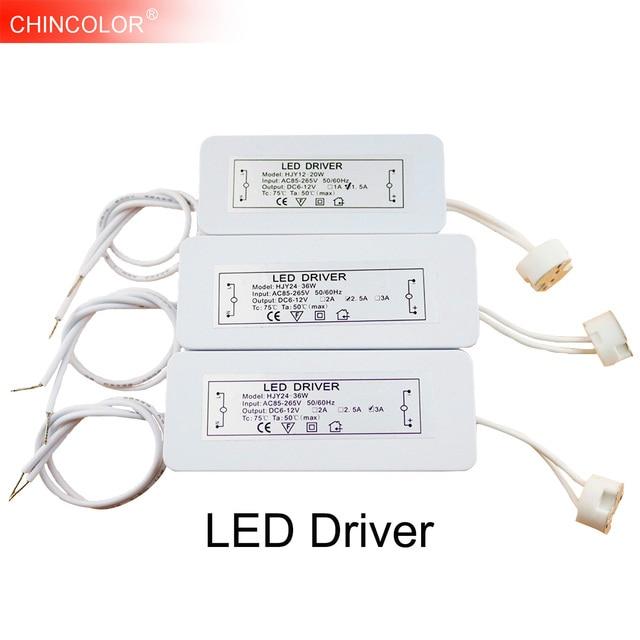 LED Driver אלקטרוני שנאי 3 W 36 W AC85 265V כדי DC12V מנורת כוס MR16 G4 MR11 GU5.3 הנורה זרקור גבוהה כוח ממיר JQ