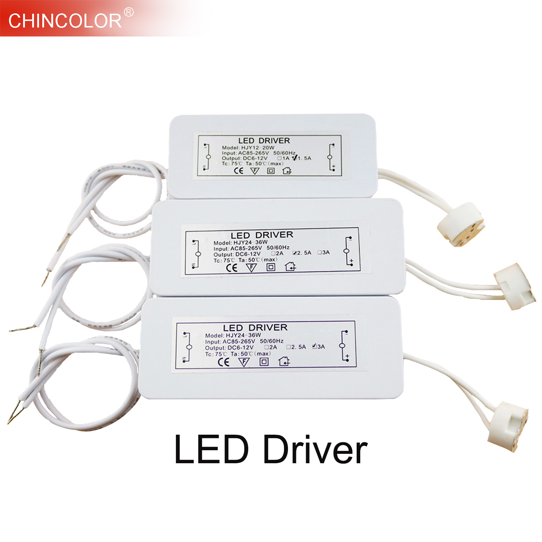 LED Driver font b Electronic b font Transformer 3W 36W AC85 265V to DC12V Lamp Cup