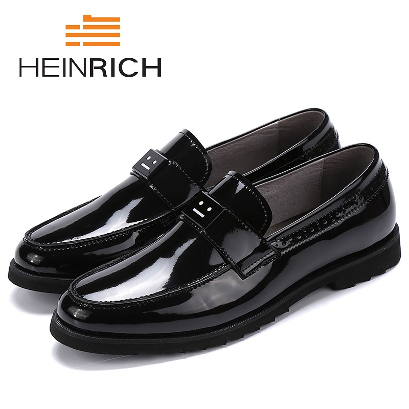 HEINRICH New Design Top Real Leather Mens Formal Business Shoes Men Breathable Dress Mens Formal Shoes Sapato Masculino Couro eioupi top quality new design genuine real leather mens fashion business casual shoe breathable men shoes lh1288