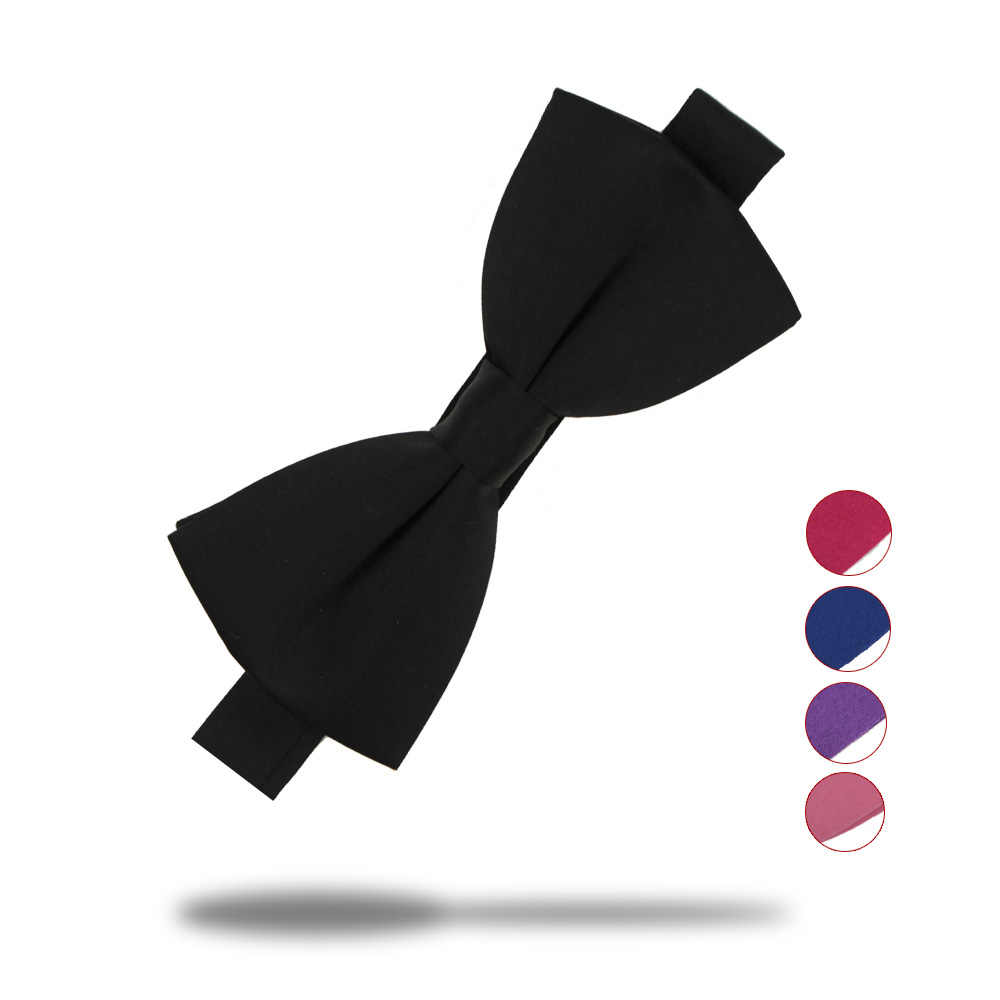 Men Fashion Tuxedo Solid Color Stripe Bow Tie Wedding Adjustable Formal Bowtie
