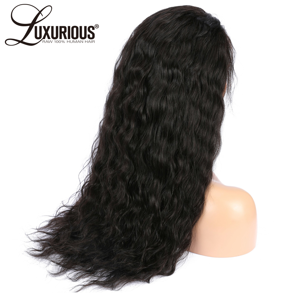 150 Density 360 Lace Frontal Wig Pre Plucked With Baby Hair Brazilian Remy Natural Wave Lace