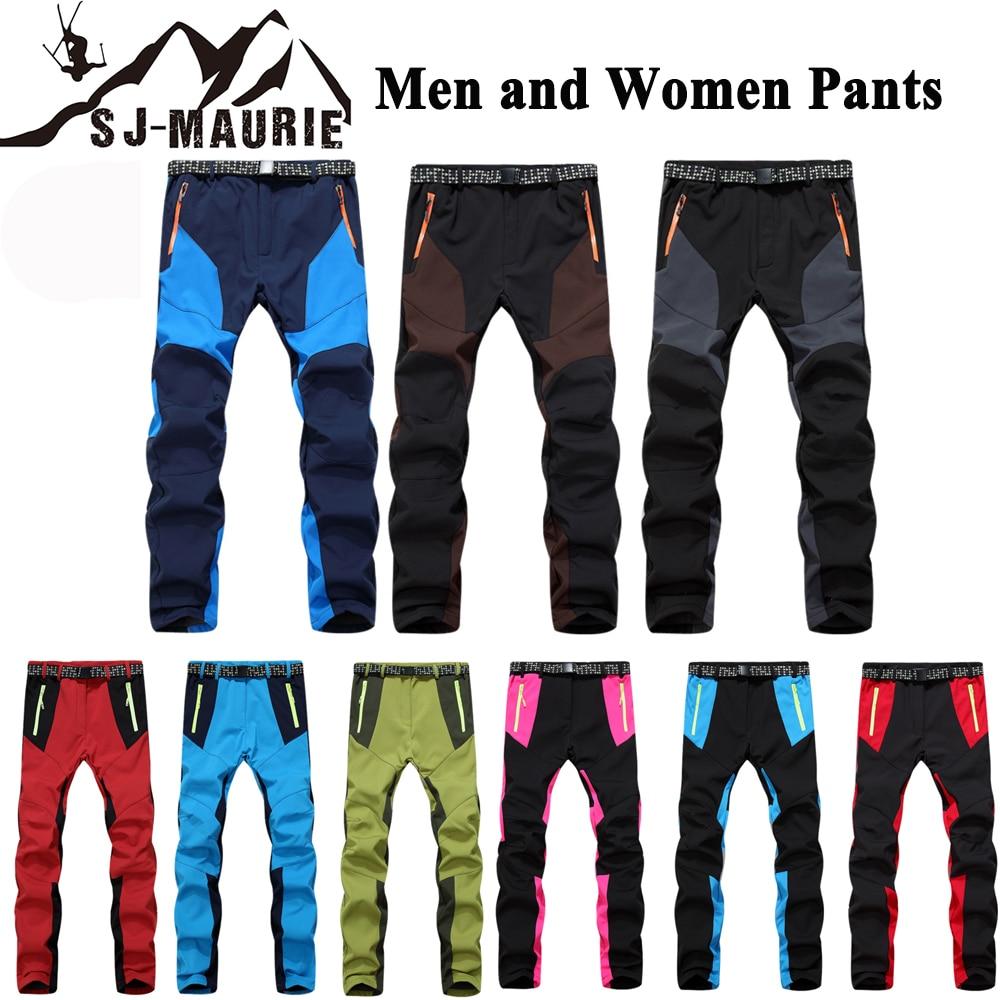 de3acbcb05 Man Winter Skiing Pants 30 Degree Waterproof Camping Outdoor Women Hiking  Pants Climbing Fishing Softshell Trouser-in Skiing Pants from Sports ...