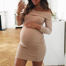 fashion style new arrival solid woman dress loose above knee, mini natural slash neck autumn pregnant casual