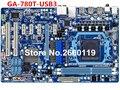 Madre de escritorio para gigabyte ga-780t-usb3 ddr3 am3 + placa base del sistema probado y funciona bien