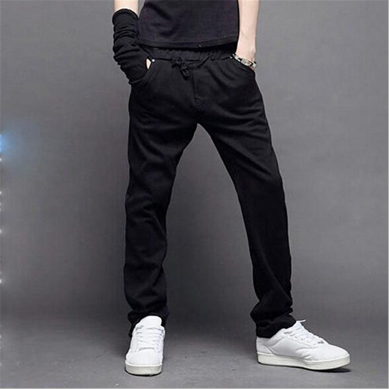 2018 High Quality Trend Autumn New Products Pure Color Casual Trousers Sweatpants Straight Sweat Pants Mens Casual Pants