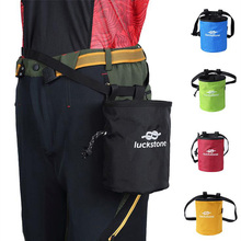 лучшая цена Outdoor Chalk Bag Bouldering Climbing Rock Climbers Magnesium Powder Bag With Drawstring Closure Adjustable Belt