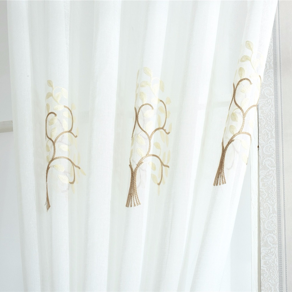 100*250cm Floral Door Window Curtain Drape Panel Sheer Scarf Home Room Valances Divider For Home Dceor