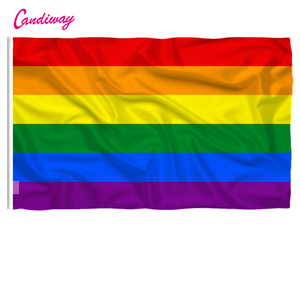 Homosexuality Rainbow Flag Polyester standard Flag Pride Peace Flags Gay Lesbian Stripe Men Women Parade