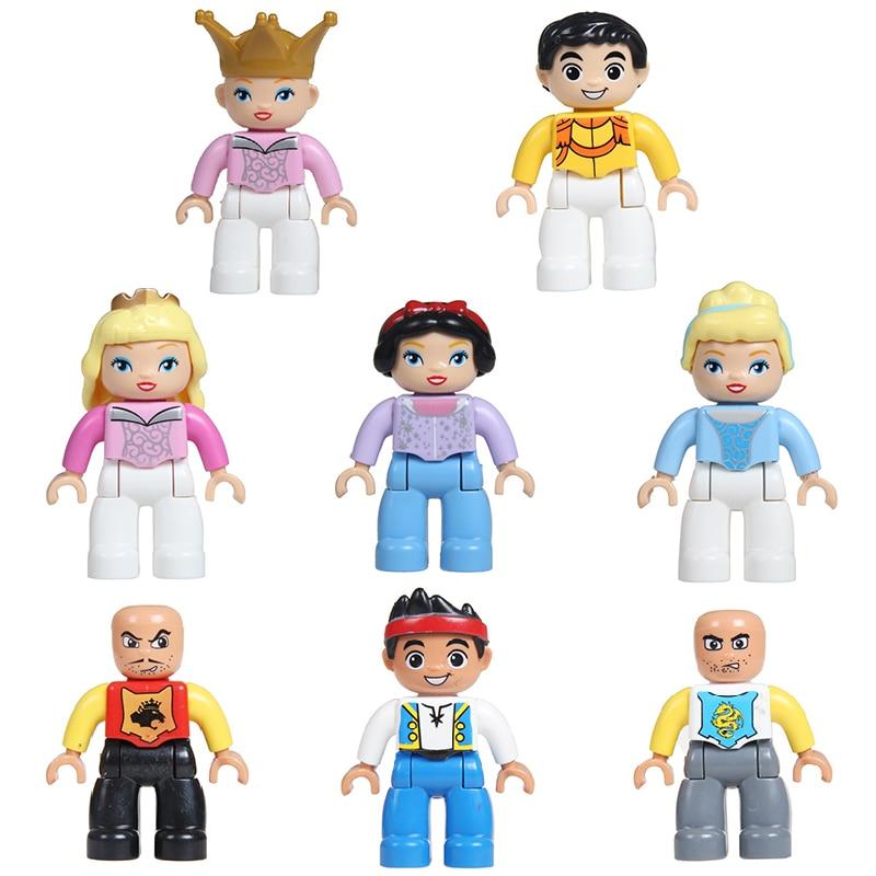Big Particles Figure Building Blocks Princess Castle Knight Figuren DIY Bricks Compatible With Duplo Accessory Child Toys Gift
