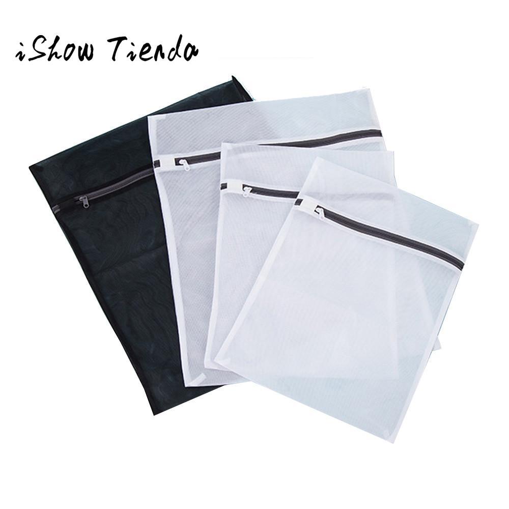 4 PCS Mesh laundry Bags Bra lingerie Protection Washing Drying Bag Zipper Home Storage Bag (2 Medium,2 Large) Wasnet Zak #B0