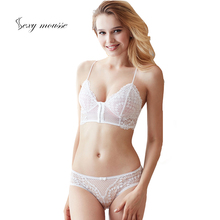 sexy mousse front closure broadside intimates for women thin cup big size bra and briefs sets white seamless lady