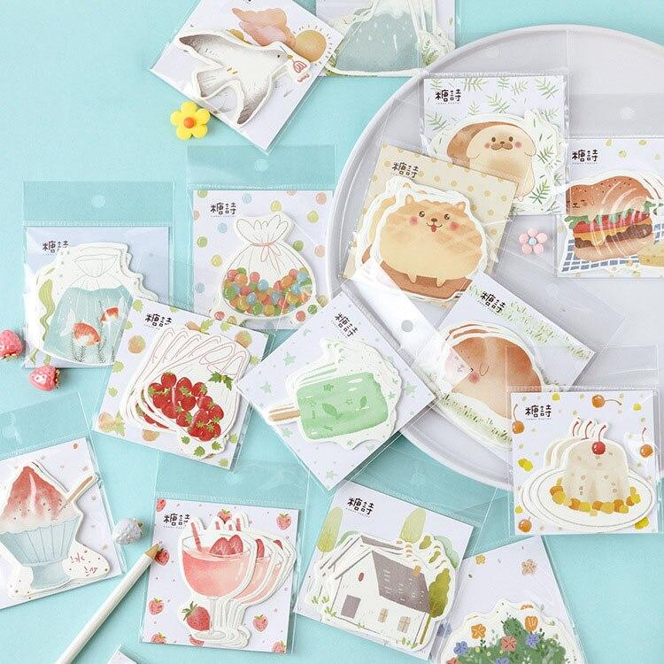 Mohamm Sweet Summer Series Kawaii Cute Sticker Custom Stickers Diary Stationary Flakes Scrapbook DIY Decorative Stickers