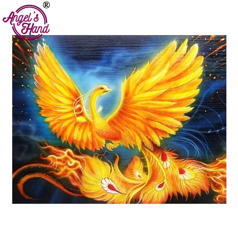 ANGEL'S HAND diy diamond painting 5d canvas painting 3d diy Diamond Embroidery phoenix