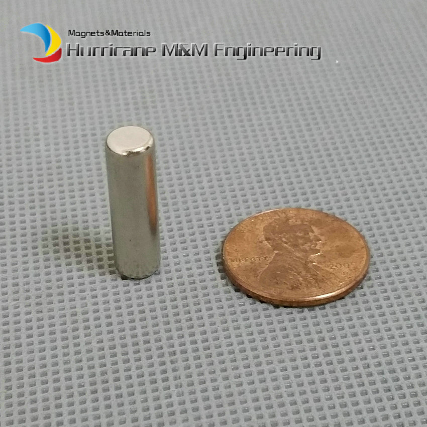 48-200pcs NdFeB Magnet Disc Dia. 6x20 mm 0.236 Rod Axially Magnetized Cylinder Strong Neodymium Permanent Rare Earth Magnets 1 pack dia 6x3 mm jelwery magnet ndfeb disc magnet neodymium permanent magnets grade n35 nicuni plated axially magnetized