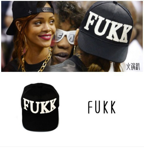 555cf62d34f NEW trapstar Rihanna London fashion baseball cap Letter FUKK baseball hat  hiphop embroidery cotton cap snapback Free shipping-in Baseball Caps from  Apparel ...