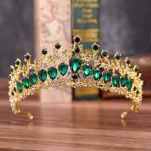 Silver Crystal Sunflower Crown Tiara Headbands Baroque Style Wedding Jewelry Engagement Hair Accessories For Bride baroque fashion party crystal crown jewelry womens gold multicolor tiara wedding bride bridal hair accessories blue silver crown